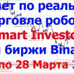"""Отчет по реальной торговле РОБОТА — <span class=""""response"""">«Smart Investor» на бирже Binance</span> с 17 по 28 Марта 2021г"""