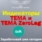 "<span class=""response"">Два Индикатора ТЕМА и TEMA ZeroLag</span> для QUIK"