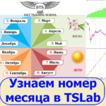 Как узнать номер месяца в TSLab