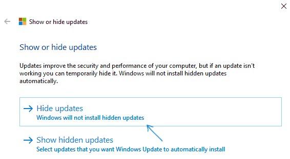 Hide-Updates